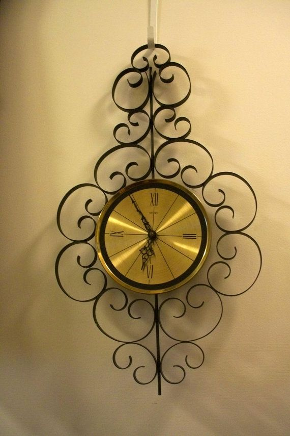Vintage Welby Wall Clock Retro Elgin Salvage by Lionfishvintage ...
