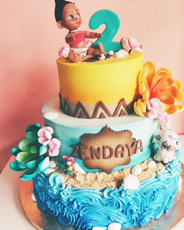 Icing Ideas For Moana Birthday Cake