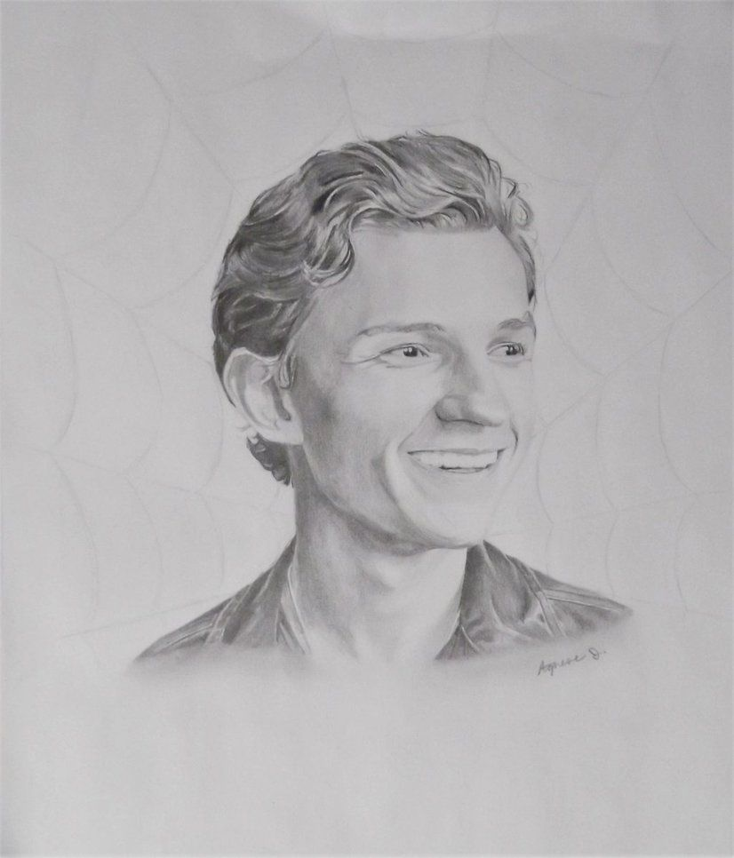 Pencil drawing oftom holland by agnesej on deviantart