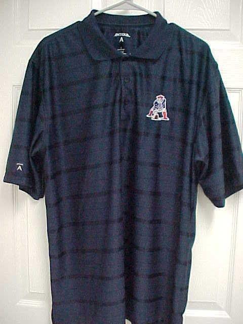 NEW ENGLAND PATRIOTS Men s Dark Blue NFL Short Sleeve Golf Polo Shirt L  Antigua  Antigua  NewEnglandPatriots 4e0c8a5d6