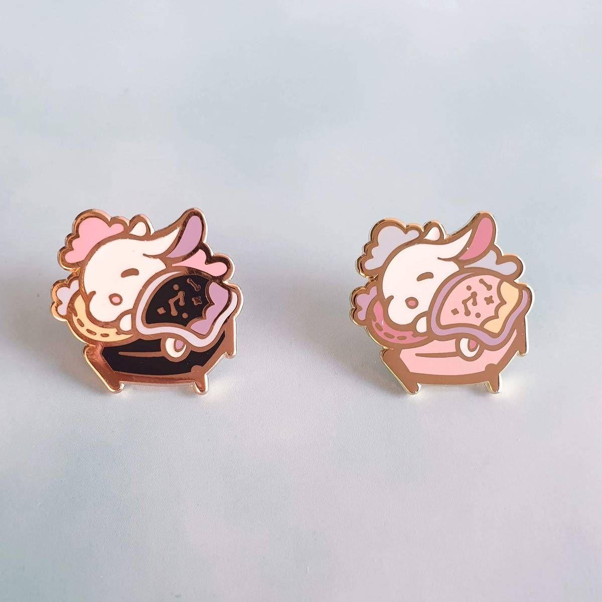 Gold Plated Brooch Unique Gift Set SET OF FOUR Cat Enamel Pins Cute Pets Lapel Pins