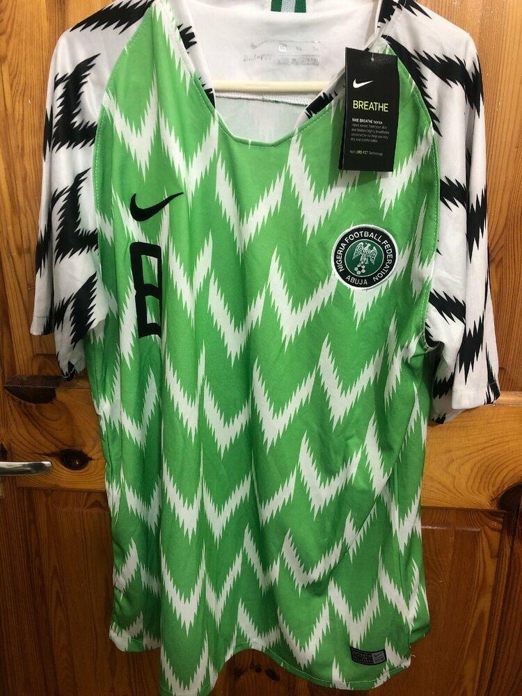 new arrival 2411d 1e651 NIGERIA FOOTBALL SHIRT HOME JERSEY WORLD CUP 2018/19 . XL ...