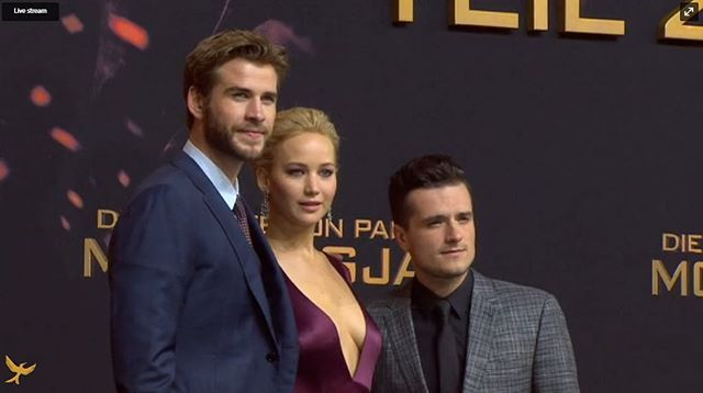 Liam, Jen and Josh at the world premiere of Mockingjay part two in Berlin, Germany  #liamhemsworth #jenniferlawrence #joshhutcherson #hemsworthbrothers #Hemsworth #thehungergames #galehawthorne