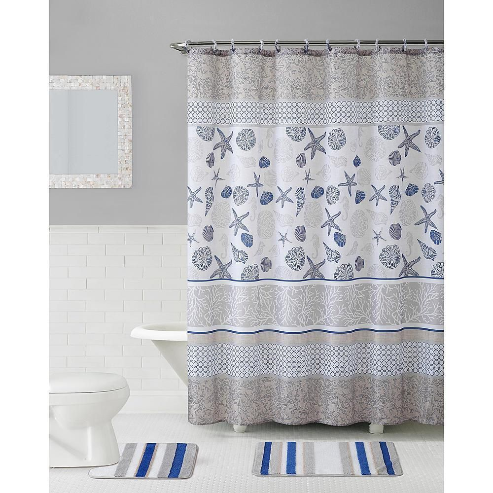 Modern Pattern Of The 72 X 72 Polyester Shower Curtain Adds Flair And Color To Your Decor Matching Bath Ma Shower Curtain Sets Bath Sets Shower Curtain Rods