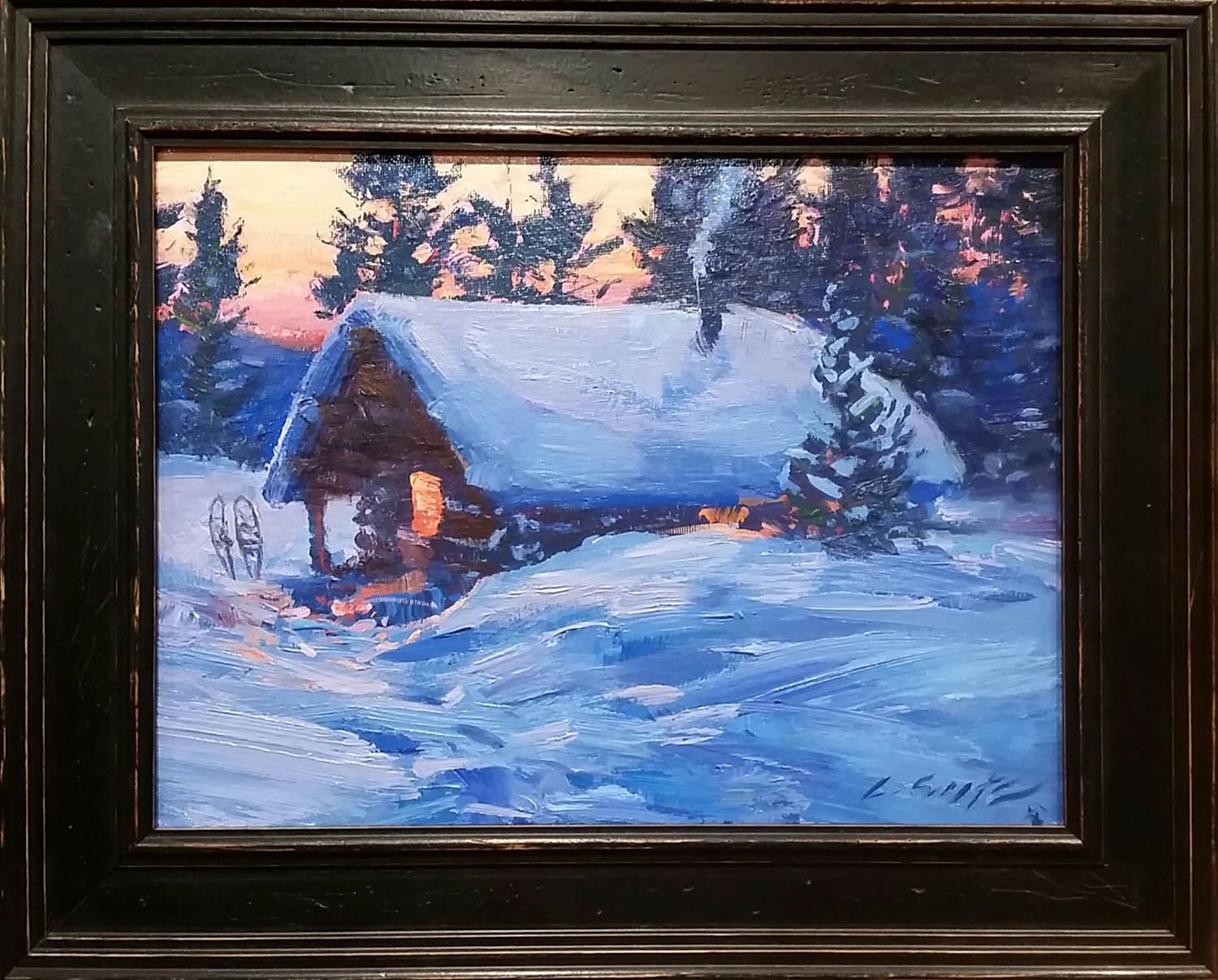 Winter painting pages - Painting Websites