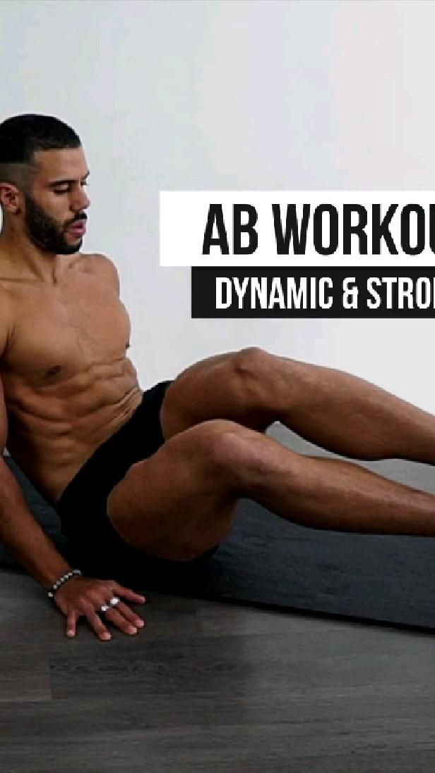Dynamic & Strong Ab Workout at Home ( No Equipment )