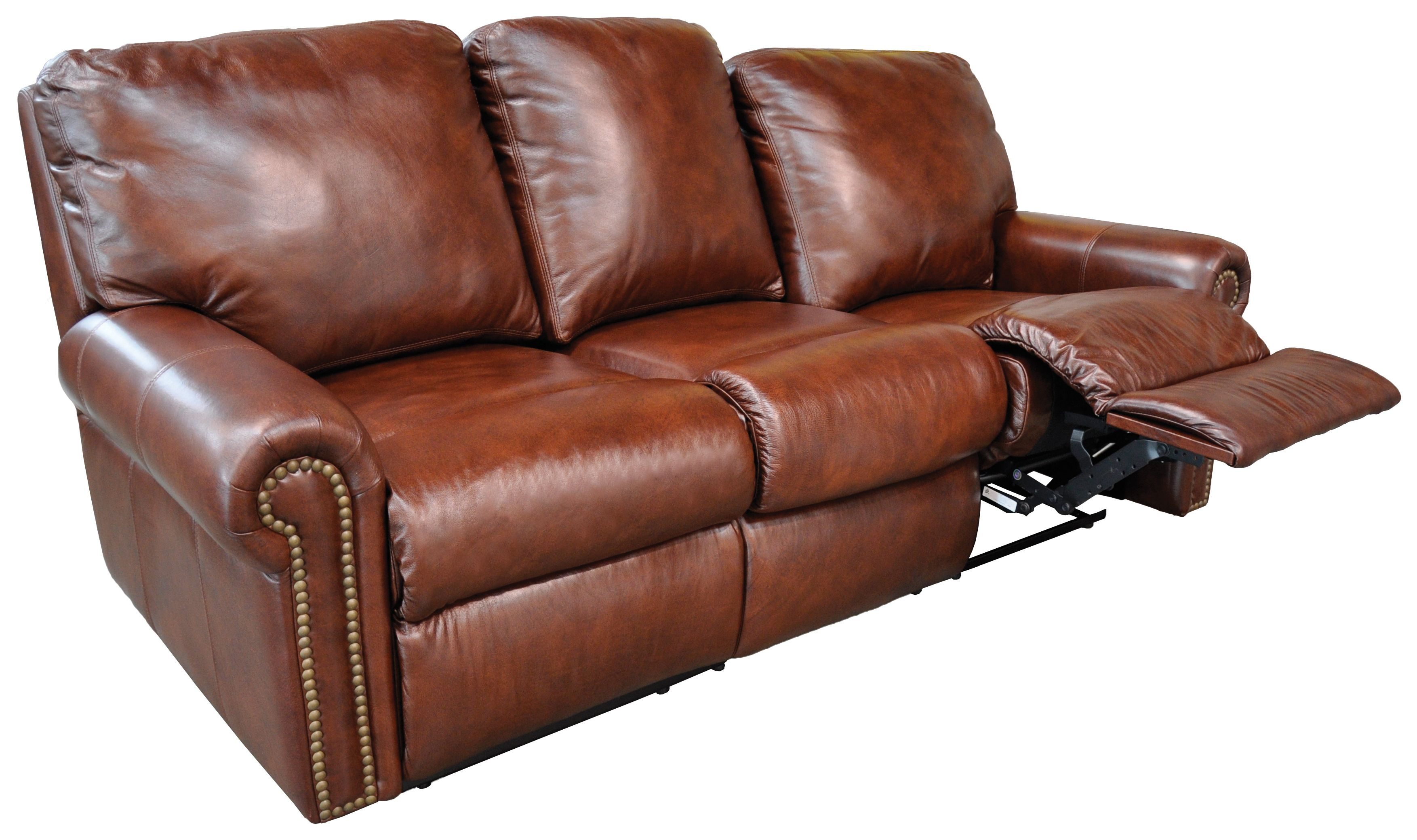 Furniture Omnia Leather Fairmont Reclining Sofa Top Full Grain