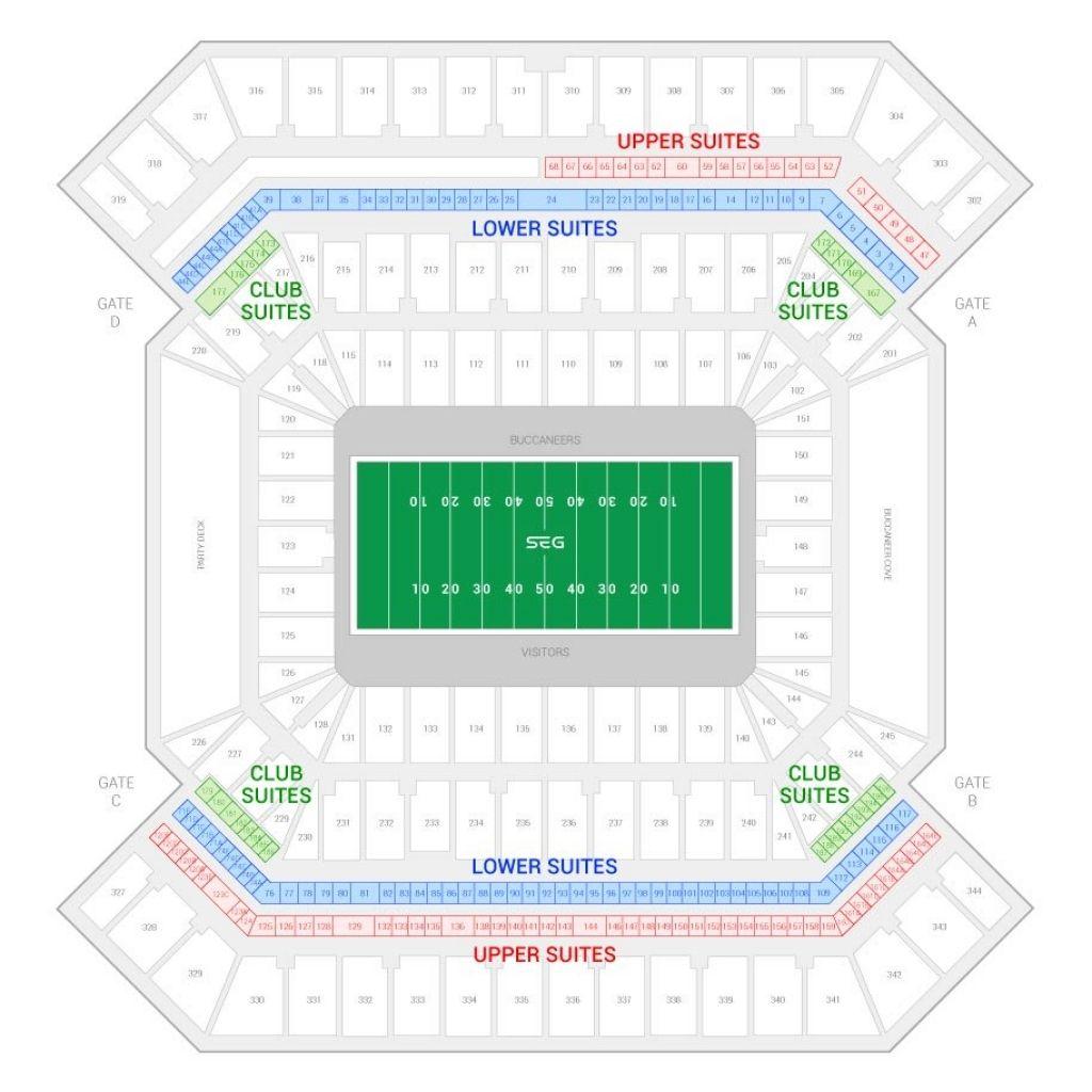 Raymond James Stadium Seating Chart With Seat Numbers Di 2020