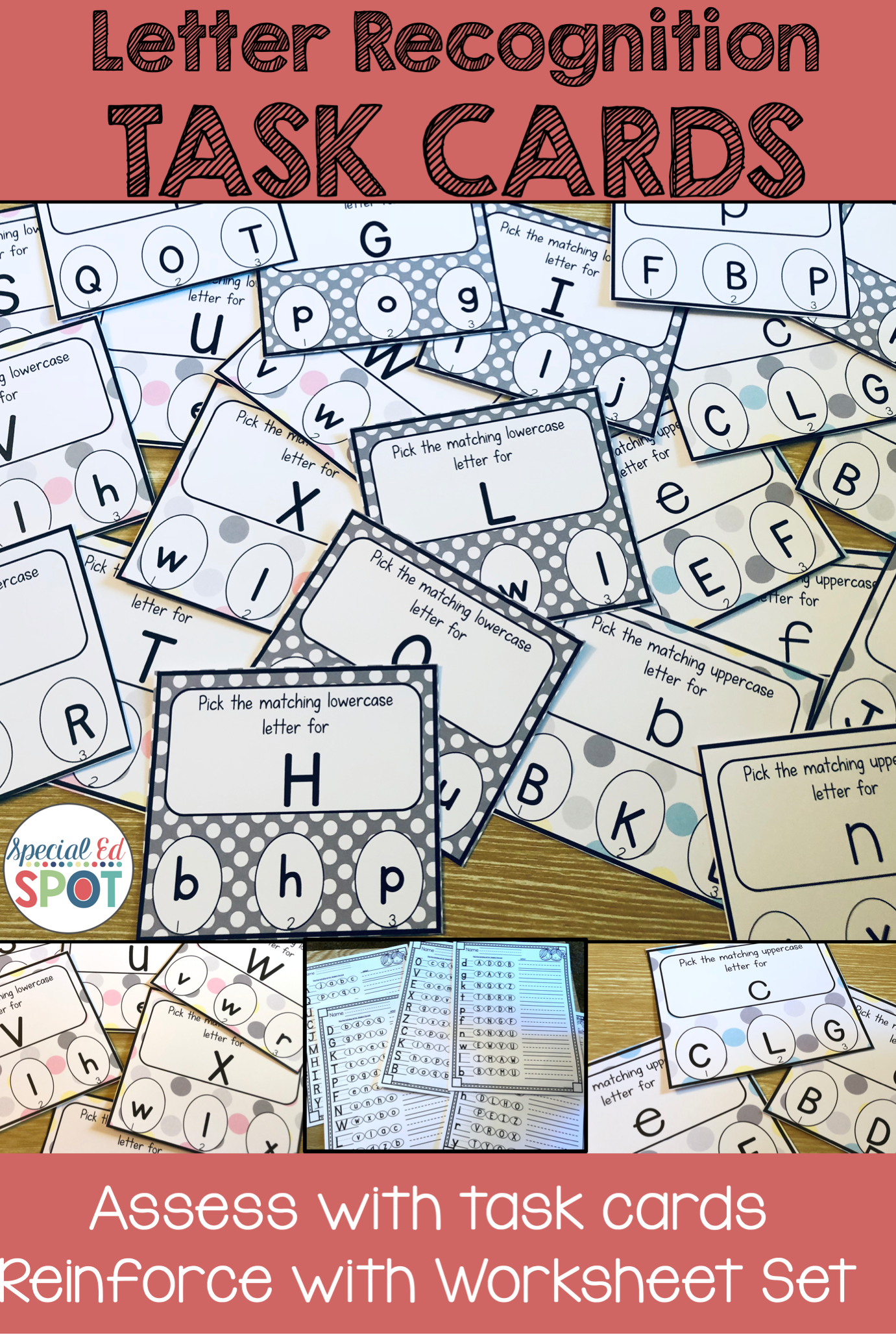Task Cards Upper And Lower Case Letters And Worksheets