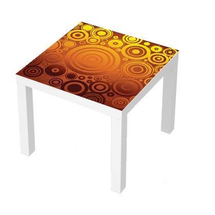 Stickers Pour Table Basse Lack 55x55 Circles Deco Design