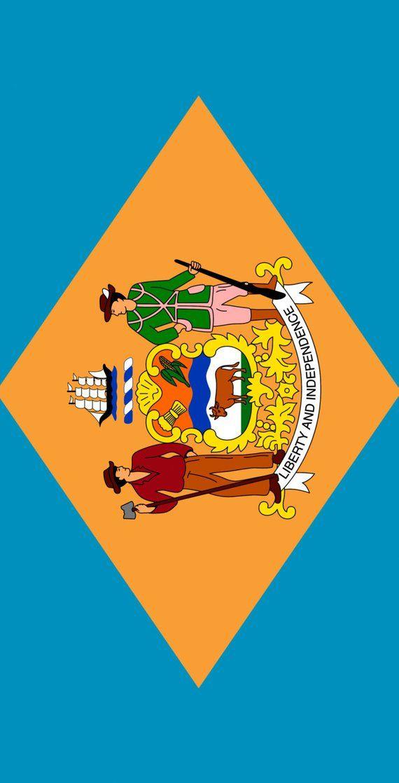 Delaware State Flag Themed 2x4 Custom Cornhole Board Set With Etsy In 2020 Delaware State Flag Custom Printed Bags Custom Cornhole Boards