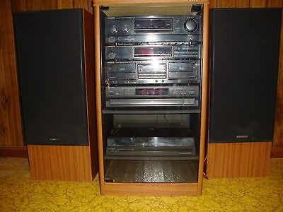 Bon Kenwood Spectrum 690 Rack Component Stereo System With Kenwood Cabinet