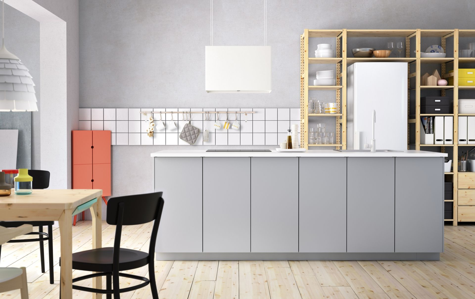 Metod keuken ikea ikeanl grijs modern stellingkast for Metod keuken