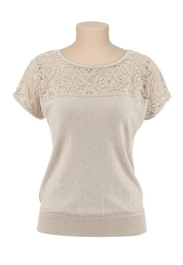 Lace Top Pullover Sweater available at #Maurices  http://www.maurices.com/product/index.jsp?expcsl=1212924%7C%7C=17044236