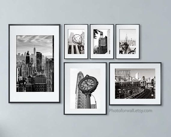 New york decor set of 6 prints travel photography new york home goods pinterest travel photography wall art bedroom and gallery wall