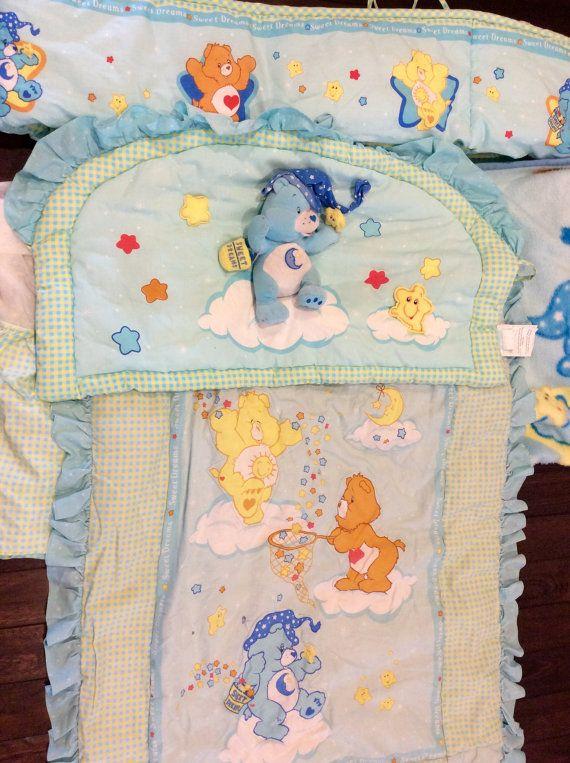 Vintage Care Bear Crib Set