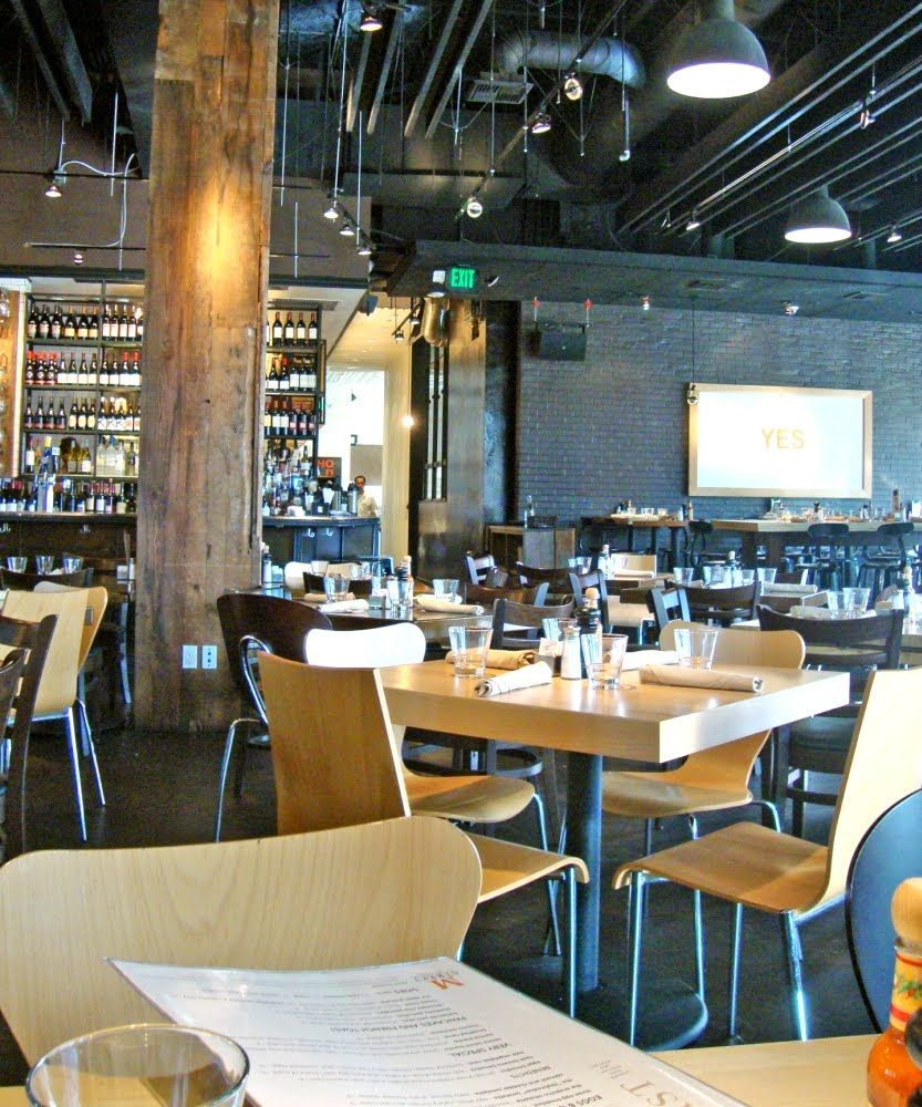 M Street Kitchen in Santa Monica. Modern, not fussy. High-low mix ...