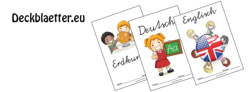 Deckblätter Grundschule | Deckblätter ausdrucken