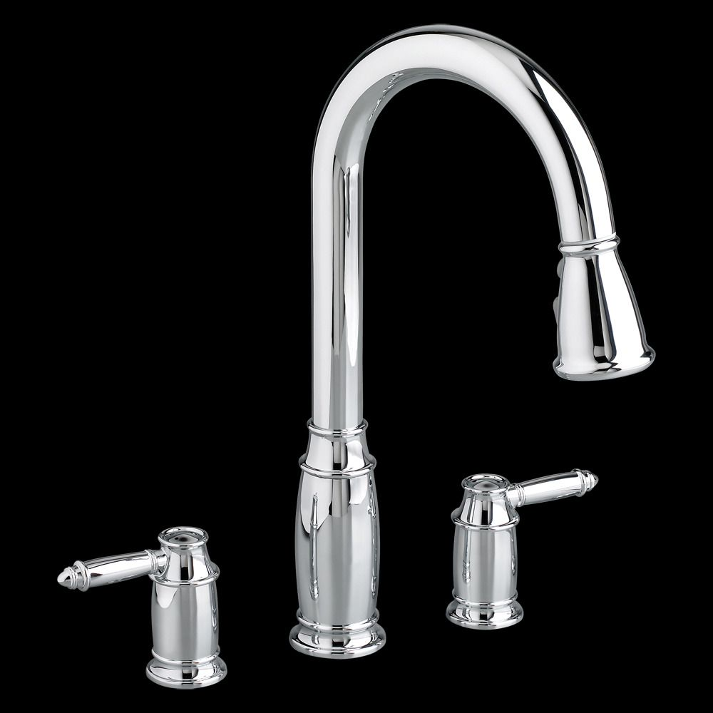 2 Handle Pull Down Kitchen Faucet | Kitchen faucets, Faucet and Kitchens