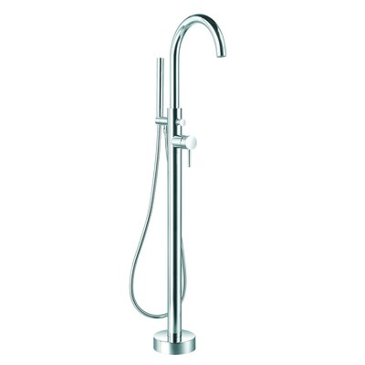 Wildon Home Single Handle Floor Mounted Bathtub Faucet With
