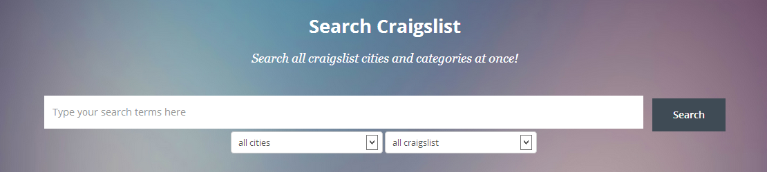 Search All Craigslist at Once - This new website ...