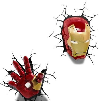 The avengers 3d wall art nightlight collection iron man homebase the avengers 3d wall art nightlight collection iron man aloadofball Image collections
