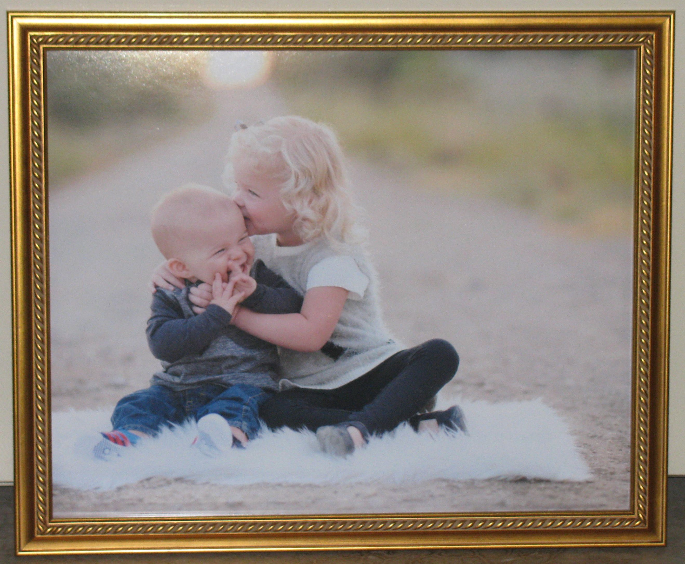Brother & Sister portrait frame - framed by Custom Framing to you ...