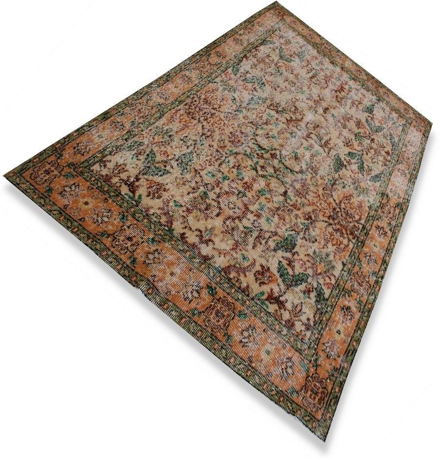 Oranje Groen Vintage Vloerkleed Tapijt Karpet Kelim Carpet Serozatapijten Nl Vintage Tapijten Vloerkleed Vintage Groen Vloerkleed Vintage