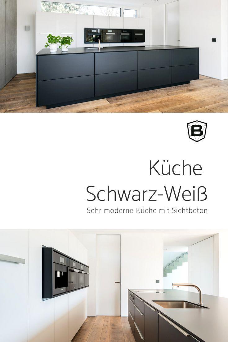 Küche Schwarz Weiß in 2020   Küche schwarz, Küche schwarz ...
