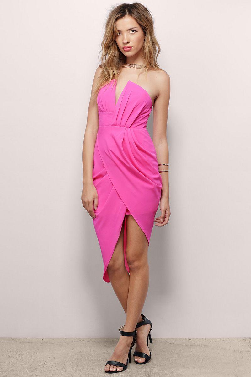 Trista Strapless Bodycon Dress, $52, tobi.com | i just love pink ...