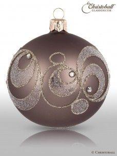 Christbaumkugel Glaskugel Weihnachten Dekoration. Weihnachtskugel