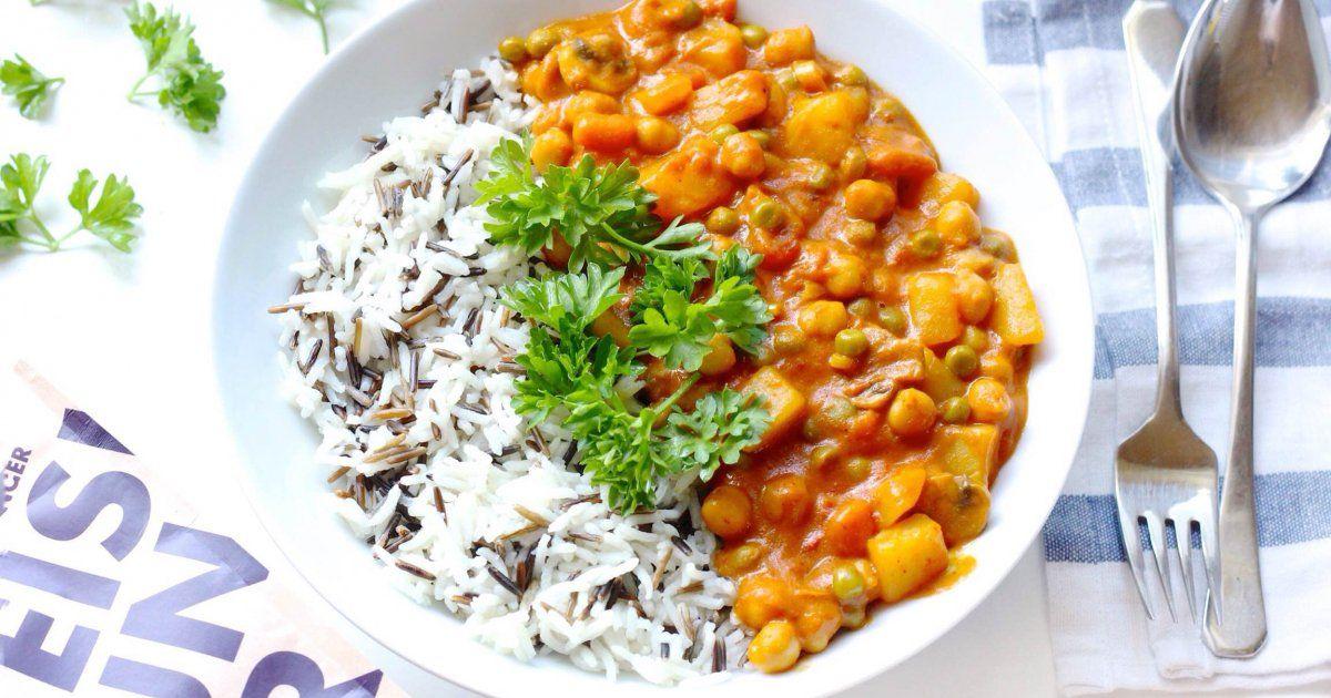 veganes Kichererbsen Curry ✓ super lecker und super gesund ☆ Jetzt nachkochen!