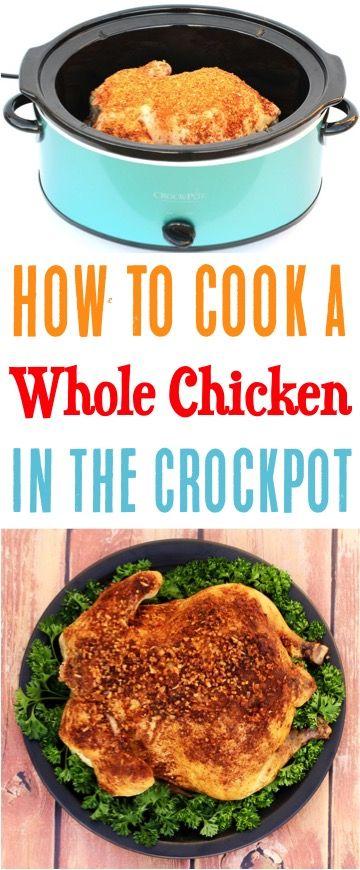 Whole Chicken Crock Pot Recipe So Easy Diy Thrill Easy Recipes Crockpot Whole Chicken