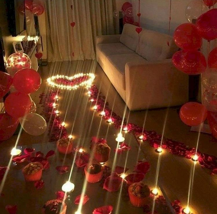 A Nice Room Setup For Valentine's Day #date #night #ideas