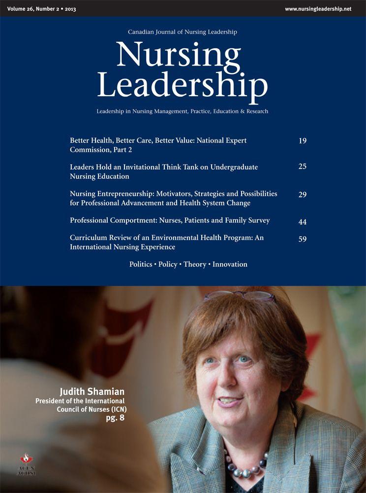 Nursing Leadership Vol 26 No 2 Nursecollab Nursing