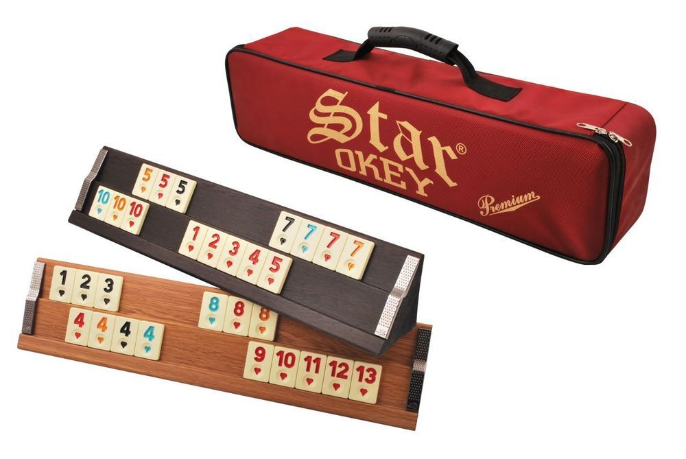Okey Traditional Turkish Game Rummikub Premium Model Wooden