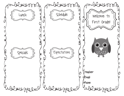 The Go To Teacher Beginning Of The Year Editable Brochure - Editable brochure templates