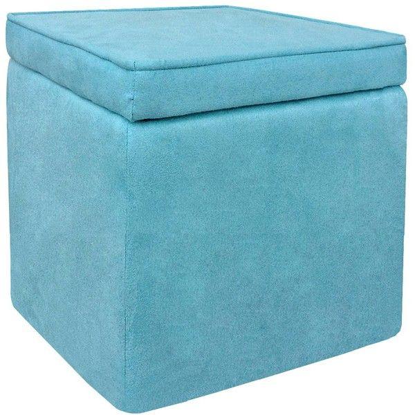 Storage Ottoman Room Essentials Cube Storage Ottoman Light Blue