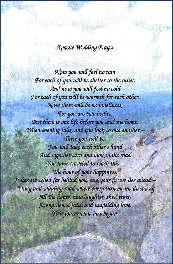 Apache Wedding Prayer By Linda Feinberg Wedding Prayer Wedding Verses Wedding Blessing