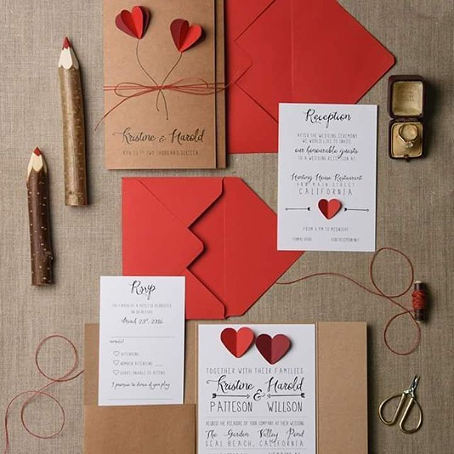 All you need is love #red #weddinginvitation from @4LOVEPolkaDots For more pretty wedding inspiration follow them on IG here https://instagram.com/4lovepolkadots/