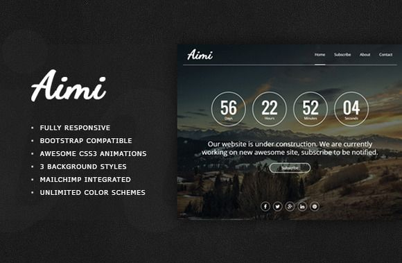 Aimi Responsive Coming Soon By Infinity Motion On Creative