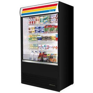 True Tac 48 Black Vertical Air Curtain Refrigerator 34 Cu Ft