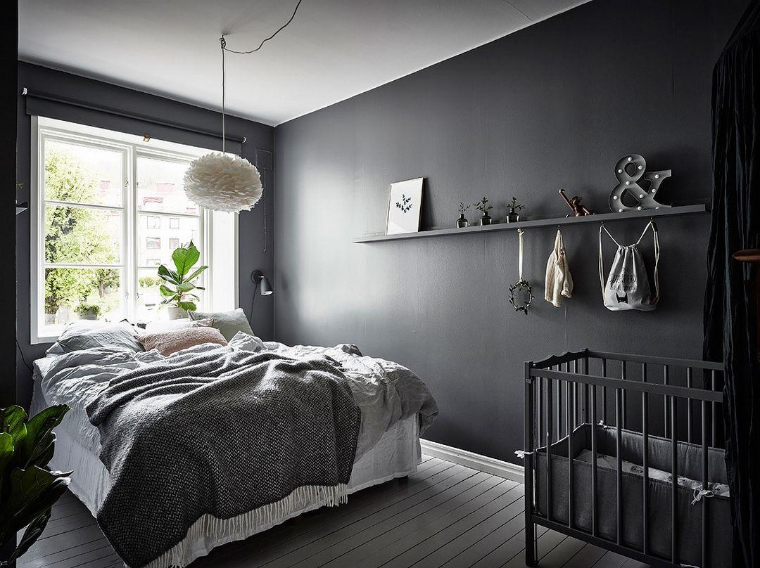 REFLETS ACAJOU   Chambre a coucher design, Chambre grise foncé ...