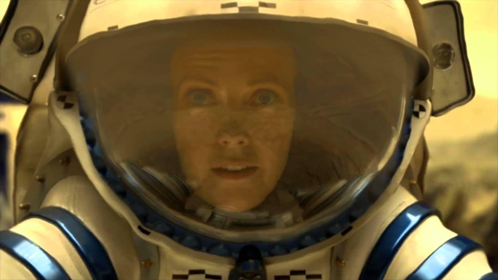 Zoe Barnes (Laura Harris) on her EVA on Venus in Defying