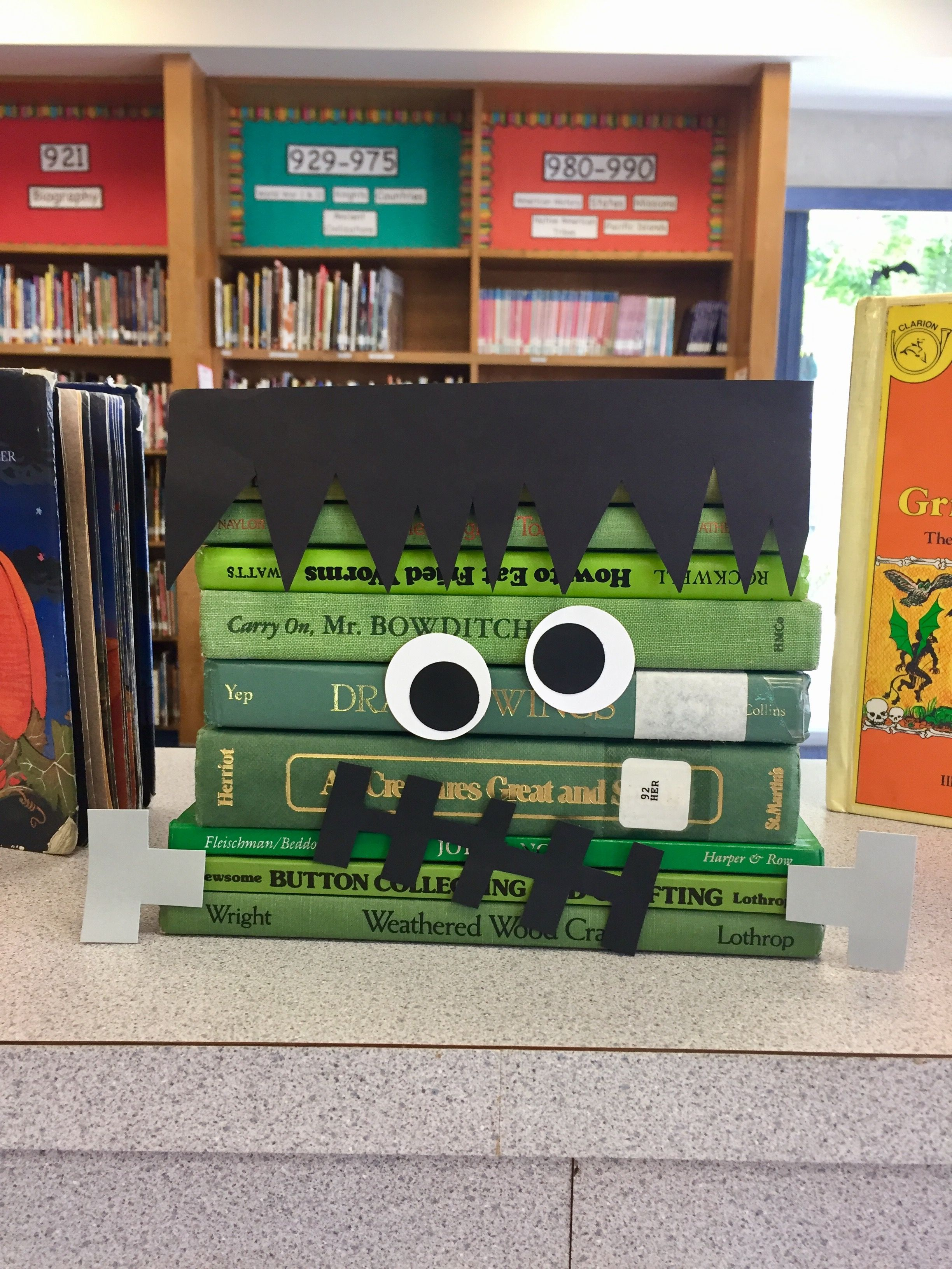 Frankenstein Book Display Books Displays Halloween