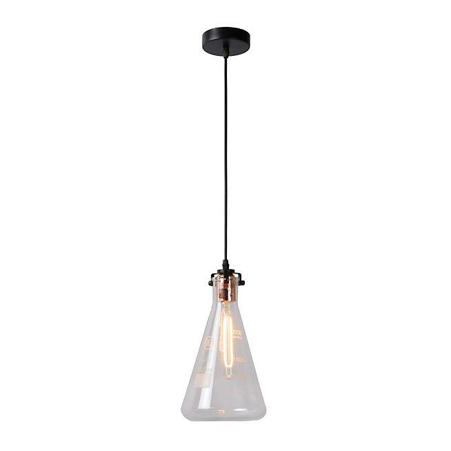 Vitri Suspension style industriel en verre et cuivre D17cm