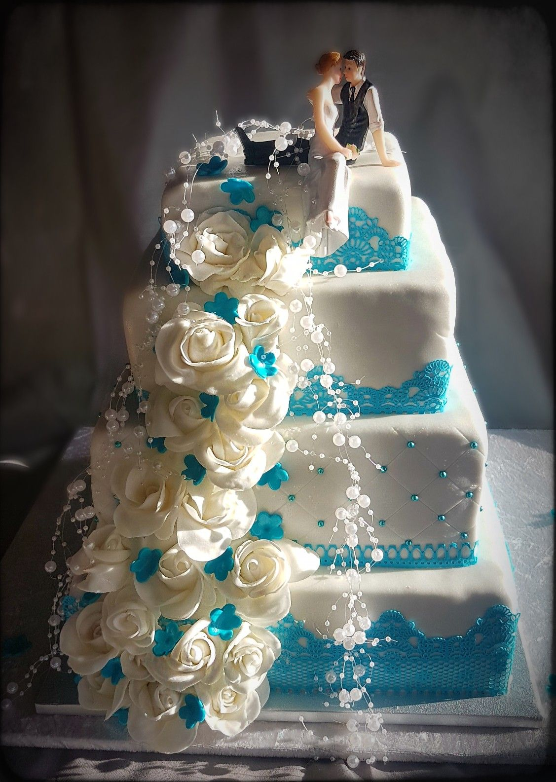 Hochzeitstorte Turkis Cakes Wedding Cakes Cake Elegant Cakes