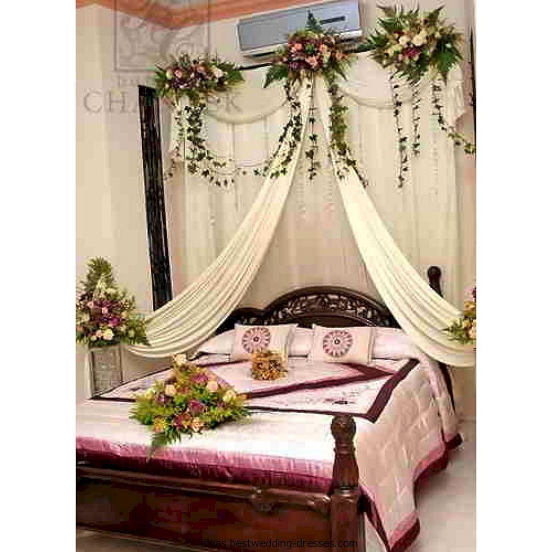 40 Awesome Wedding Night Room Decoration Ideas Wedding Night Room Decorations Wedding Bedroom Wedding Room Decorations Luxury bridal room design