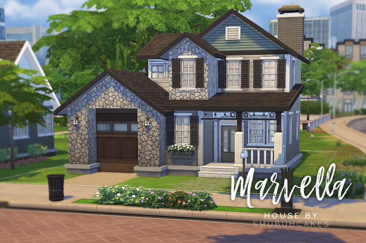 Smubuh Marvella Starter House 3 Bedrooms 2 Bathrooms Sims