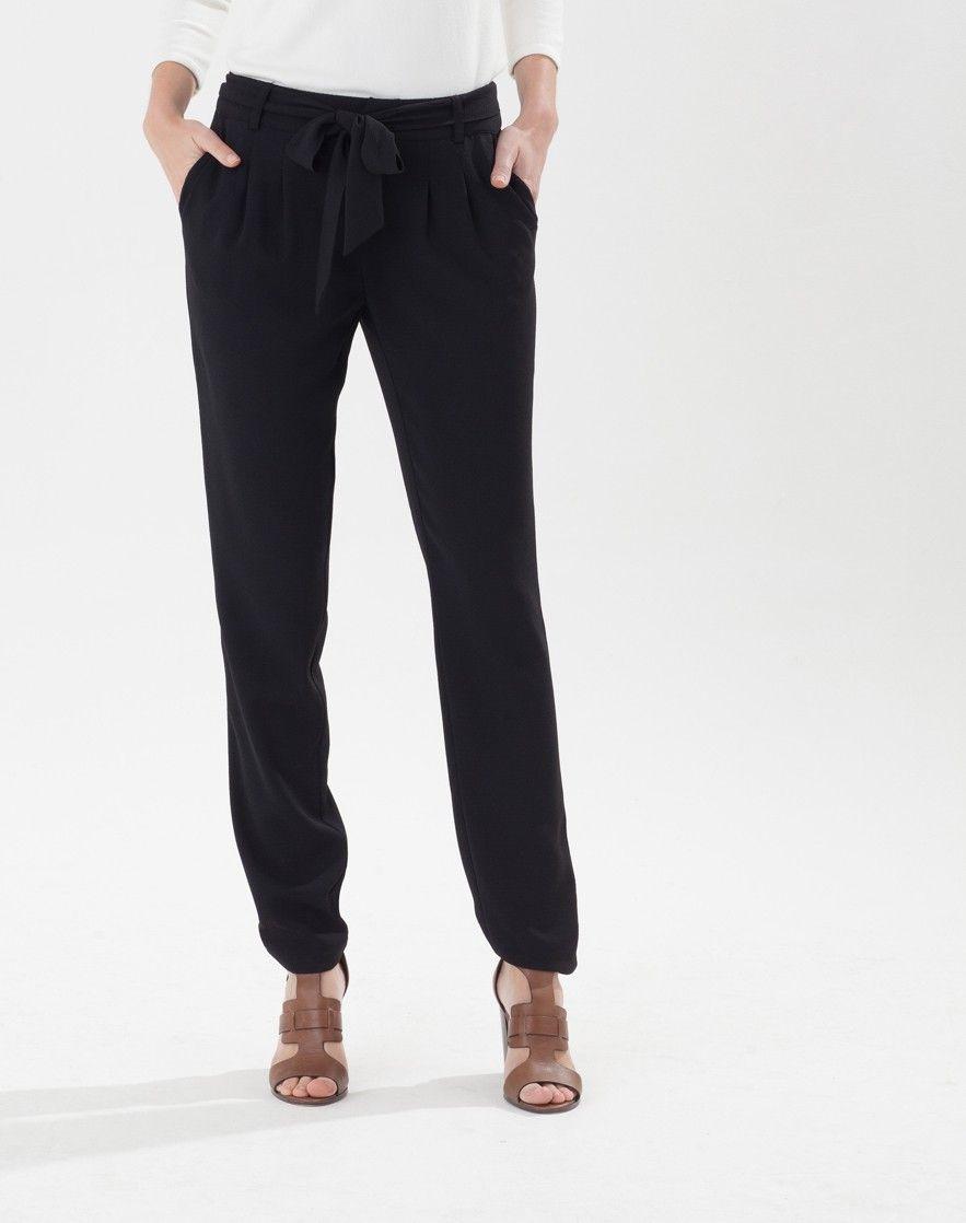 pantalon noir fluide 123